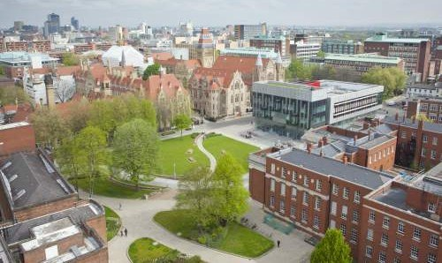 University of Manchester campus.