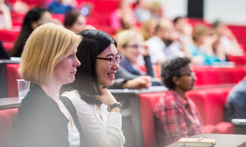 Students at a seminar