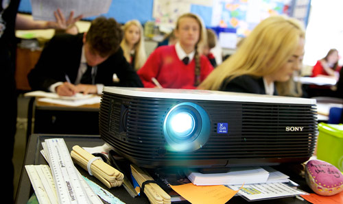 Projector in classroom