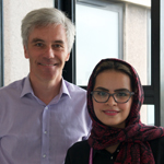 Photograph of Andy Howes and Sama Albalawi
