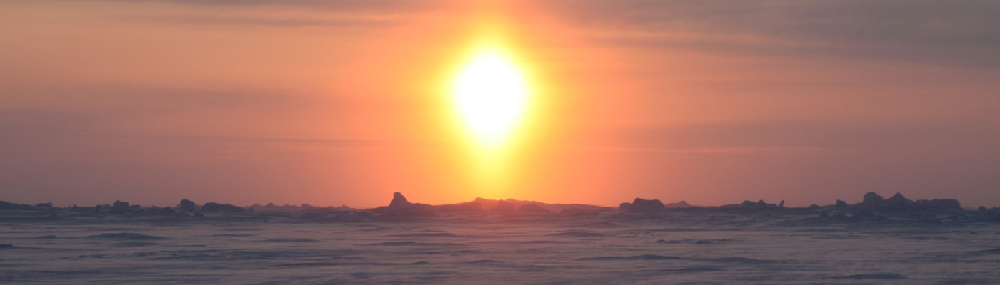 Arctic sunset photograph