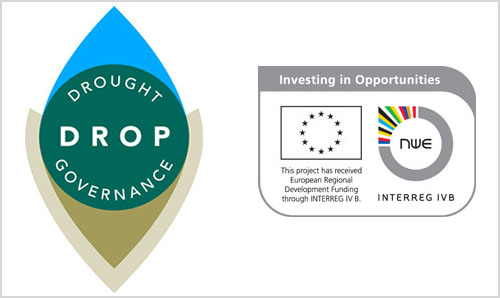 The Drop project logo and European Regional Development Funding logo